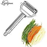 Generic LMETJMA Multifunctional Julienne Peeler Vegetable Fruit Peeler Stainless Steel Durable Potato Slicer Shredder Carrot Peeler