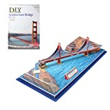 Image San Francisco 3 D Puzzles Of The Golden Gate Bridge Jigsaw Gift For Kids, Learning, Educating, Christmas...