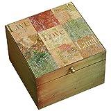 Royal Roots Wooden Hand Painted Vintage Box (VR0026, 17.5 Cm X 17.5 Cm X 11.25 Cm)