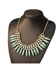Aaishwarya Bohemian Style Fashion Turquoise Beaded Bib Necklace For Women & Girls