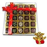 Chocholik Belgium Chocolate Gifts - Stunning Collection Of Truffles With Small Ganesha Idol - Diwali Gifts