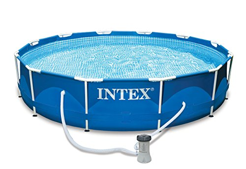 Intex Aufstellpool Frame Pool Set Rondo, Blau, Ø 366 x 76 cm