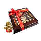 Chocholik Belgium Chocolate Gifts - Quintessential Collection 25 Pc Box With Ganesha Idol - Diwali Gifts