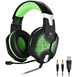 KOTION EACH G1000 3.5mm PC Stereo Gaming Headset With In-line Mic Integrated Microphone Over-ear Fit With Noise... - B01E58IE8M