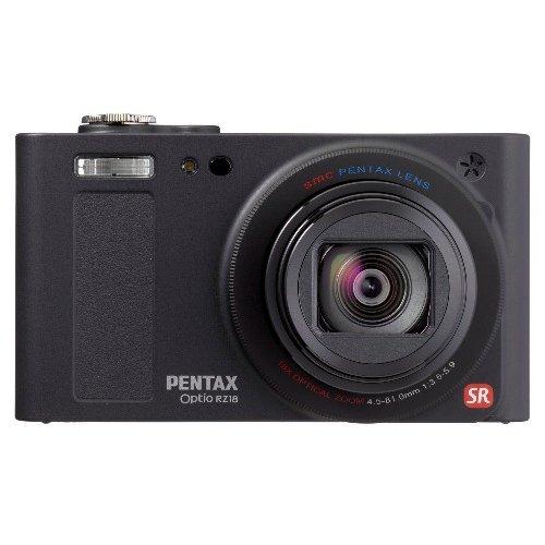 PENTAX デジタルカメラ Optio RZ18(ブラック)1600万画素 25mm 光学18倍 小型軽量 OPTIORZ18BK