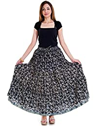 Floral And Leafy Print Design Wrap Arround Skirt