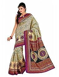 Araham Printed Art Silk Saree With Blouse - B00L4XYZXK