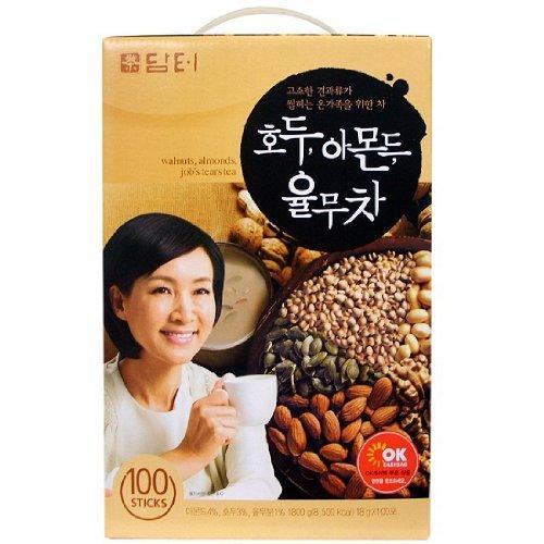 [HEALTH TEA] Korea Food Walnut Almond Job's Tears Tea 18g X 100t 호두 아몬드 율무차
