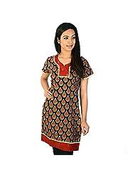 Jaipur RagaDesigner Black Girls Indian Pure Cotton Kurti Woman Cotton Kurti