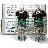 Riverstone Audio - Matched Pair (2 Tubes) JAN 5654W Fully-Tested Vacuum Tubes 6J1 / 5654 /6AK5/ EF95 / 6AK5 Tube...