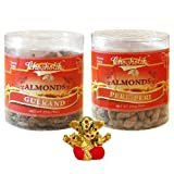 Chocholik Dry Fruits - Almonds Gulkand & Peri Peri With Small Ganesha Idol - Gifts For Diwali - 2 Combo Pack