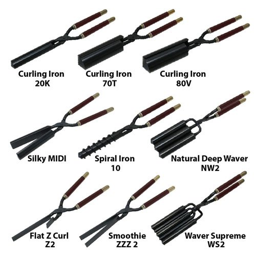 Golden Supreme Make Up Artist Set Of 10 Irons 2 Wave Beard Texturizers Plus Micro Silky
