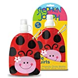 Stephen Joseph Little Squirts Ladybug Water Bottle, Multicolor, 2-Pack