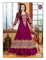 Mega Wholesale Bazaar Eliza Mahaveer Fashion Original Semi Stitched Salwar Kameez - B015FOO70Y