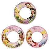 Disney Princess Swim Rings Set Of 3 Swimming Pool Toys For Kids Disney Fairies & Disney Princess For Girls 3 Years...