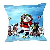 MeSleep Merry Christmas Cushion Covers In Digital Print - B018K9J4M2
