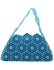 Virali Rao Women's Hand-held Bag, Blue And White