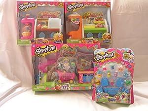 Amazon.com: Shopkins 4 pc Bundle: Small Mart Supermarket ...