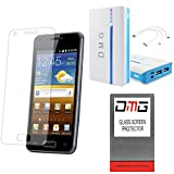 DMG Premium Shatter Proof Tempered Glass Ultra Clear Screen Protector For HTC One M9 + DMG 15000 MAh Portable...