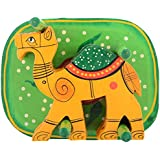 Agrawal Toys Emporium Wooden Camel Coaster With Stand, Set Of 6, Yellow