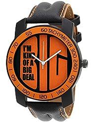 Relish-569 Stylish Orange & Black Case Analog Watches For Mens & Boys