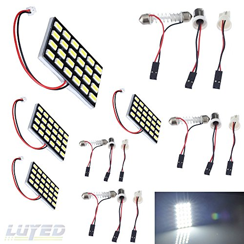 LUYED 4 x 960LM Super Bright 5630 24-SMD White Color Panel Interior Dome LED Lights(Include 3 Adapter)