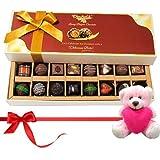 Valentine Chocholik Premium Gifts - Seasonal Chocolates With Dark And Milk Chocolates With Teddy