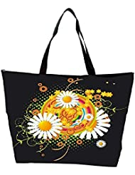 Snoogg Floral Vector Abstract Waterproof Bag Made Of High Strength Nylon