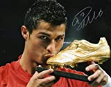 LIMITED EDITION CRISTIANO RONALDO MANCHESTER UNITED SIGNED PHOTO + CERT MAN UTD FOOTBALL PRINTED AUTOGRAPH SIGNATURE SIGNED SIGNIERT AUTOGRAM