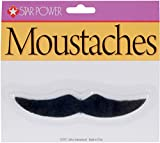 Loftus International Star Power Casanova Costume Accessory Moustache, One Size, Black