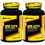 MuscleBlaze MB-VITE Multivitamin Pack Of 2, Unflavoured 120 Capsules