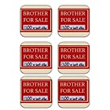 MeSleep Brother For Sale Wooden Coaster-Set Of 6