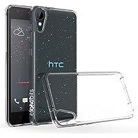 Efonebits(TM) Transparent Premium Soft Silicone Back Case Cover For HTC Desire 825