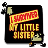 Dooni Designs Survive Sayings - I Survived My Little Sister Survial Pride And Humor Design - 10x10 Inch Puzzle (pzl_118121_2)
