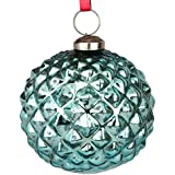 Set Of 6 Handcrafted Blue Coloured Chirstmas Decoratives / Glass Hanging Ball-2 Inch - B01N7IW4TR