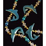 Blue Dolphin Premium Mardi Gras Bead Necklace Spring Break Cajun Carnival Festival New Orleans