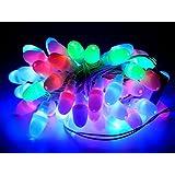 Tu Casa Multi-color-color Color Led Bullet String Light-55-60 Bulbs-Set Of 3(12.5m, Gloss Plastic, Multi-color)