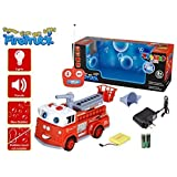 Toyland 6ch Rc Remote Control Hook And Ladder Fire Engine Truck W/Lights & Siren And Blowing Bubbles (Bubbles...