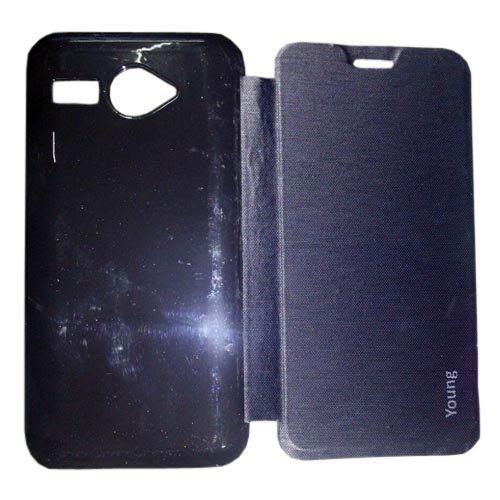 100% authentic 4f0df 84cf1 2dots Flip Back Cover Case For Intex Aqua Young (Black) Best Deals ...