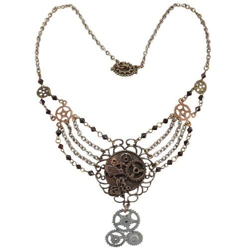 Steampunk Gear Chain Necklace