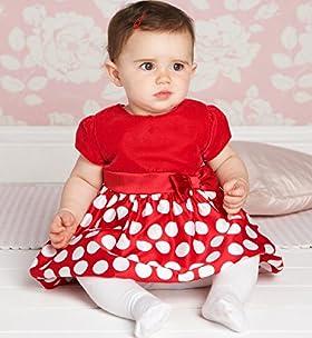 Puff Sleeve Spot Print Velvet Dress
