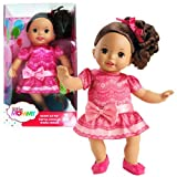Fisher Price Year 2012 Little Mommy Series 14 Inch Tall Doll Set - Sweet As Me Doll (Hispanic Versio