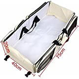 BEST DEALS - 3 In 1 Portable Multipurpose Baby Travel Bed And Diaper Bag For Baby (Assorted Color)
