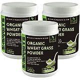 SHARRETS ORGANIC WHEAT GRASS POWDER 200g(COMBO OF 3 ) No Color, No Preservative, No Sugar
