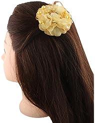 Anuradha Art Lemon Colour Styled With Rainbow Shaie Designer Hair Accessories Side Pin Stylish Hair Clip For Women...