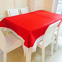Alcoa Prime Christmas Non Woven Fabric Table Cloth Red Rectangular Table Cover Christmas Dinner Table Decoration...