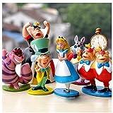 Alice in Wonderland Figures- VINYL set of 6