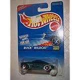 #597 Buick Wildcat Green Chrome Engine 3 Spoke Wheels Collectible Collector Car Mattel Hot Wheels