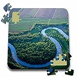Danita Delimont - Rivers - Red River of the North, Minnesota and North Dakota - US35 CHA0136 - Chuck Haney - 10x10 Inch Puzzle (pzl_93289_2)