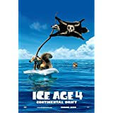 Ice Age 4 Movie Poster - 12x19 Inch Art Material